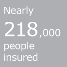 Nearly 218,000 people insured